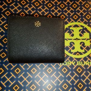 NWT black Tory Burch Emerson wallet